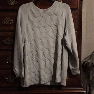 Beautiful grey cable knit sweater